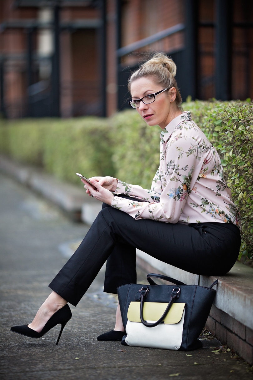 Floral dress - office look