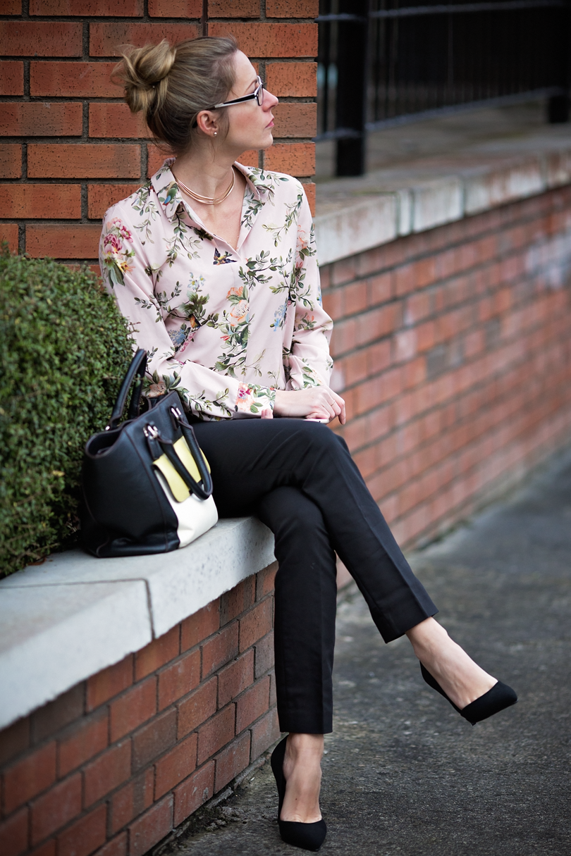 Floral shirt - office look