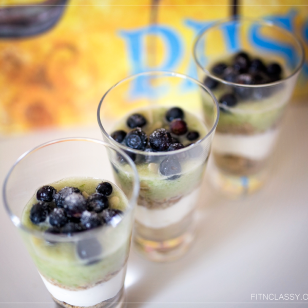 Healthy Yoghurt With Grapes And Apple Mousse